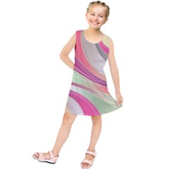 Abstract Colorful Background Wavy Kids  Tunic Dress