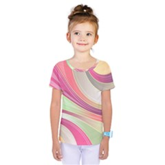 Abstract Colorful Background Wavy Kids  One Piece Tee