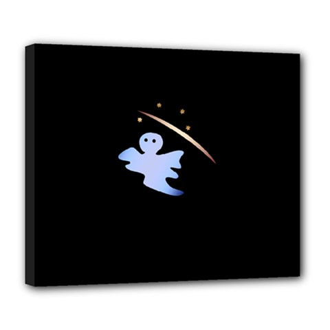Ghost Night Night Sky Small Sweet Deluxe Canvas 24  X 20