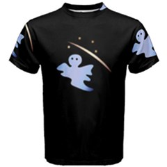Ghost Night Night Sky Small Sweet Men s Cotton Tee