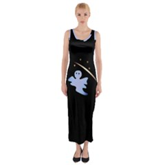 Ghost Night Night Sky Small Sweet Fitted Maxi Dress