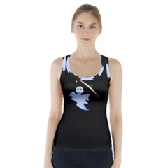 Ghost Night Night Sky Small Sweet Racer Back Sports Top