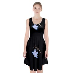 Ghost Night Night Sky Small Sweet Racerback Midi Dress