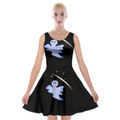 Ghost Night Night Sky Small Sweet Velvet Skater Dress