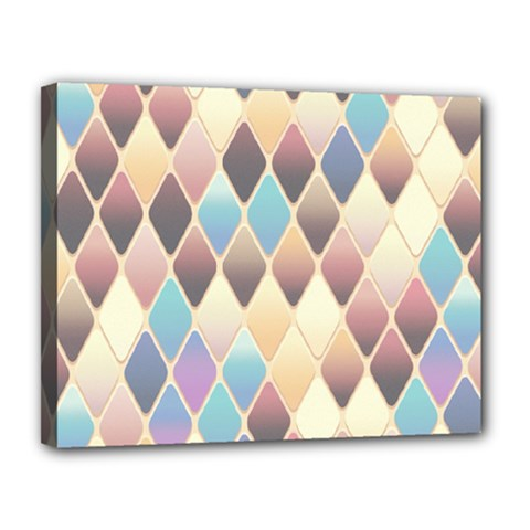 Abstract Colorful Background Tile Canvas 14  X 11