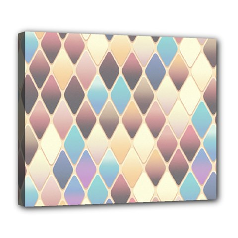 Abstract Colorful Background Tile Deluxe Canvas 24  X 20
