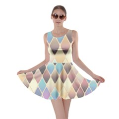 Abstract Colorful Background Tile Skater Dress