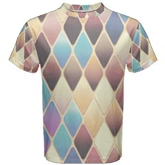 Abstract Colorful Background Tile Men s Cotton Tee