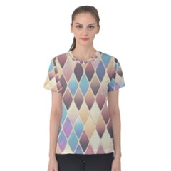Abstract Colorful Background Tile Women s Cotton Tee