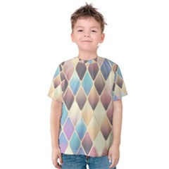 Abstract Colorful Background Tile Kids  Cotton Tee