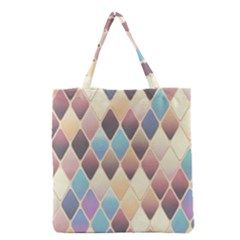 Abstract Colorful Background Tile Grocery Tote Bag