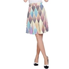 Abstract Colorful Background Tile A Line Skirt