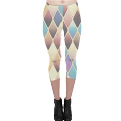Abstract Colorful Background Tile Capri Leggings