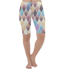 Abstract Colorful Background Tile Cropped Leggings
