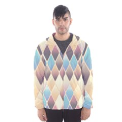 Abstract Colorful Background Tile Hooded Wind Breaker (men)