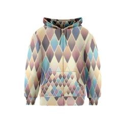 Abstract Colorful Background Tile Kids  Zipper Hoodie