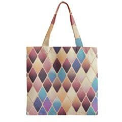 Abstract Colorful Background Tile Zipper Grocery Tote Bag