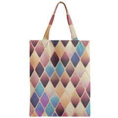 Abstract Colorful Background Tile Zipper Classic Tote Bag
