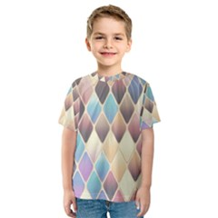 Abstract Colorful Background Tile Kids  Sport Mesh Tee