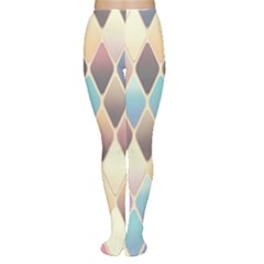Abstract Colorful Background Tile Women s Tights