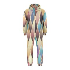 Abstract Colorful Background Tile Hooded Jumpsuit (kids)