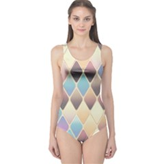 Abstract Colorful Background Tile One Piece Swimsuit