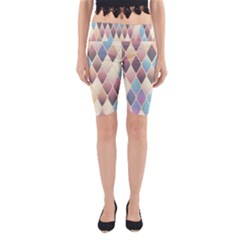 Abstract Colorful Background Tile Yoga Cropped Leggings