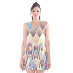 Abstract Colorful Background Tile Scoop Neck Skater Dress