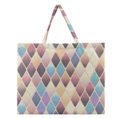 Abstract Colorful Background Tile Zipper Large Tote Bag