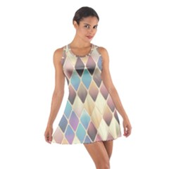 Abstract Colorful Background Tile Cotton Racerback Dress