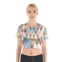 Abstract Colorful Background Tile Cotton Crop Top