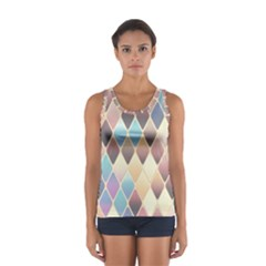 Abstract Colorful Background Tile Women s Sport Tank Top