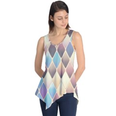 Abstract Colorful Background Tile Sleeveless Tunic