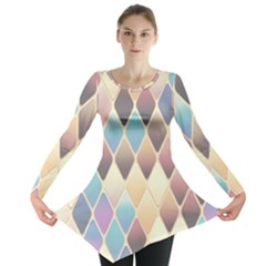 Abstract Colorful Background Tile Long Sleeve Tunic