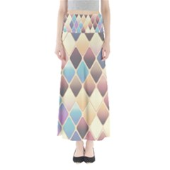 Abstract Colorful Background Tile Maxi Skirts