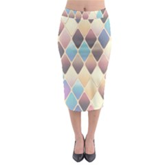 Abstract Colorful Background Tile Midi Pencil Skirt