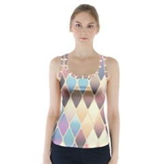 Abstract Colorful Background Tile Racer Back Sports Top