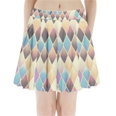 Abstract Colorful Background Tile Pleated Mini Skirt