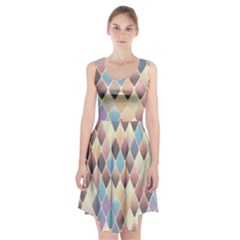 Abstract Colorful Background Tile Racerback Midi Dress