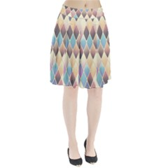 Abstract Colorful Background Tile Pleated Skirt
