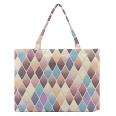 Abstract Colorful Background Tile Medium Zipper Tote Bag