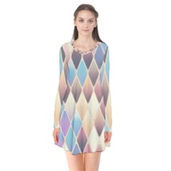 Abstract Colorful Background Tile Flare Dress