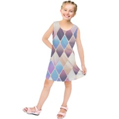 Abstract Colorful Background Tile Kids  Tunic Dress