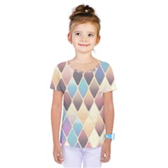 Abstract Colorful Background Tile Kids  One Piece Tee