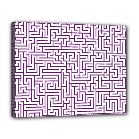 Maze Lost Confusing Puzzle Canvas 14  x 11