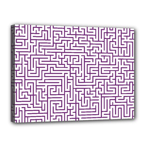 Maze Lost Confusing Puzzle Canvas 16  X 12