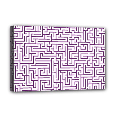 Maze Lost Confusing Puzzle Deluxe Canvas 18  X 12