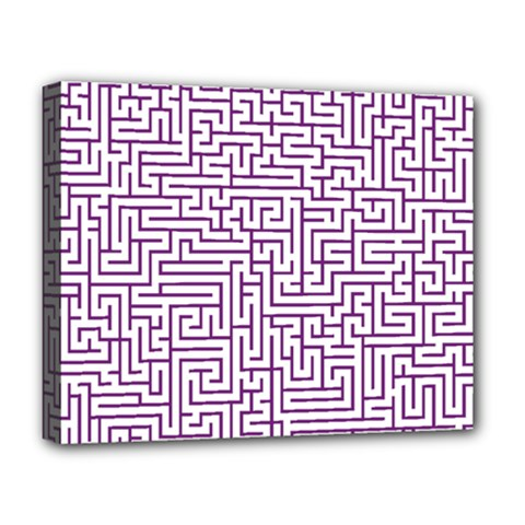 Maze Lost Confusing Puzzle Deluxe Canvas 20  X 16