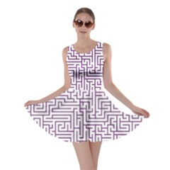 Maze Lost Confusing Puzzle Skater Dress
