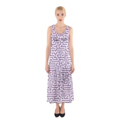 Maze Lost Confusing Puzzle Sleeveless Maxi Dress